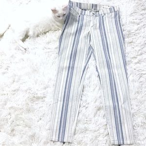 Two | Vince Camuto Striped, Zippered Hem Skinnies